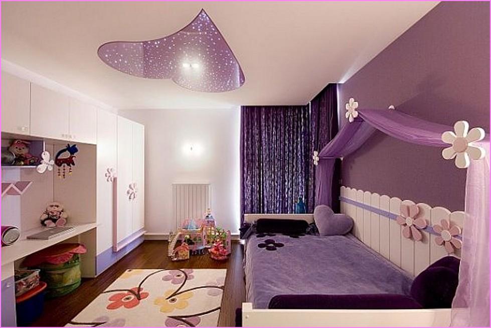 purple color room idea photo - 7