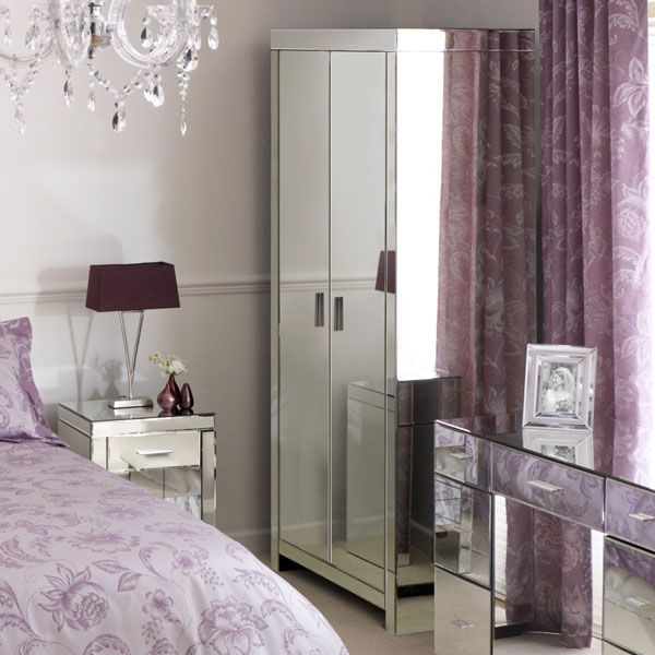 purple mirrored bedroom furniture | hawk haven