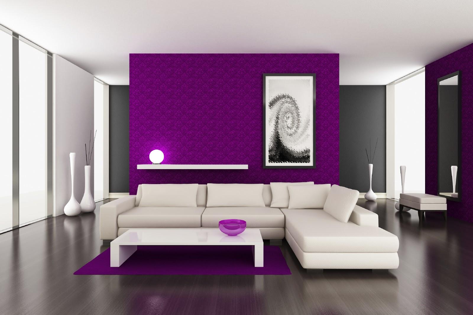 purple painted rooms photo - 4