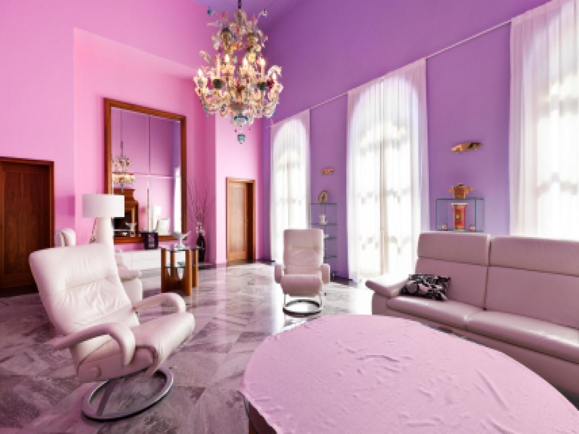 purple painted rooms photo - 7