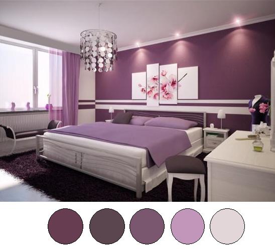 purple room color scheme photo - 1