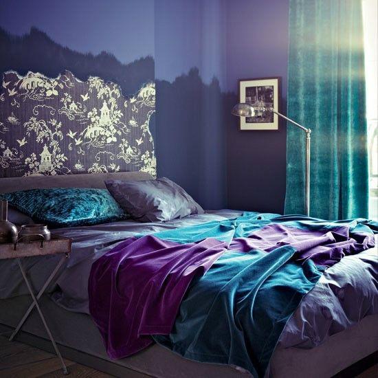 purple room color scheme photo - 10