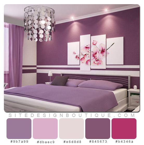 purple room color scheme photo - 2