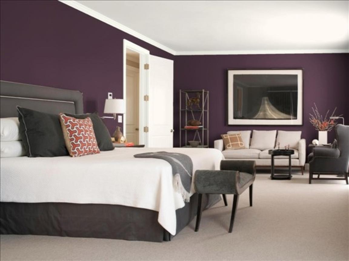purple room color scheme photo - 4