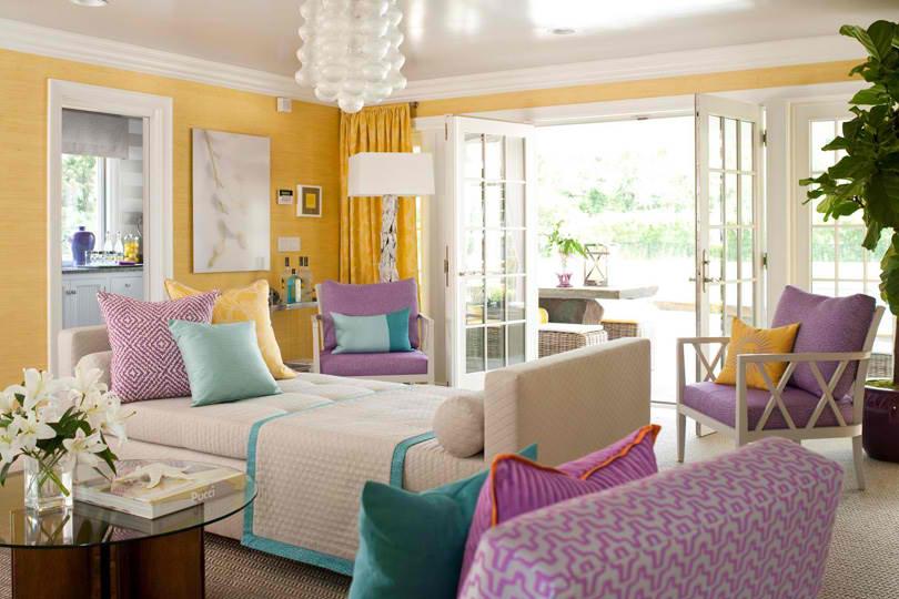 purple room color scheme photo - 5