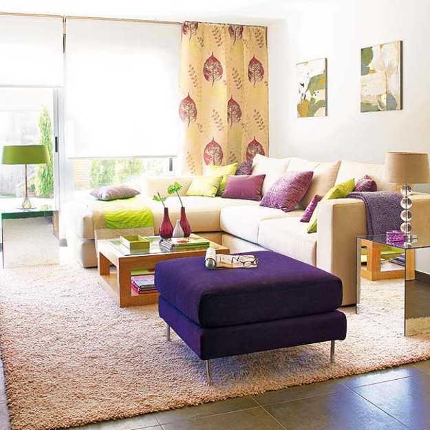 purple room color scheme photo - 6