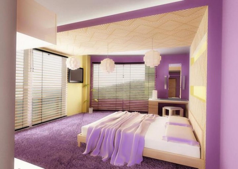 purple room color scheme photo - 8