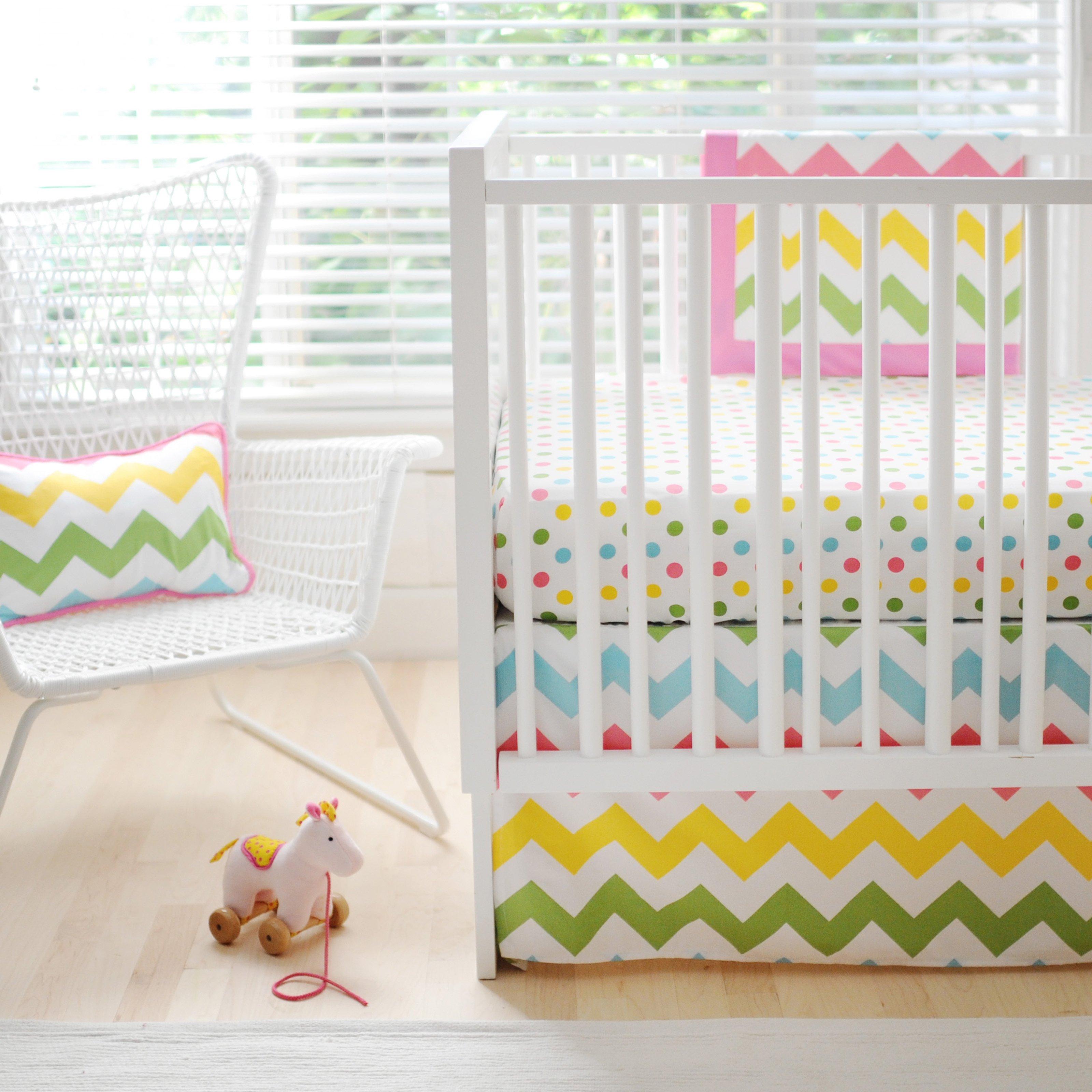 rainbow baby bedding photo - 5