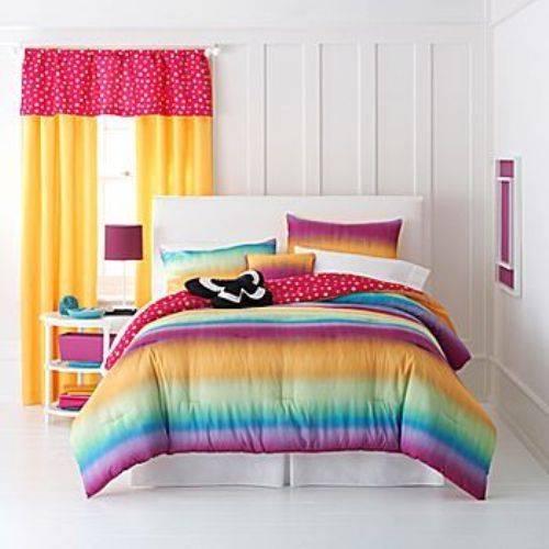 rainbow bedding for girls photo - 1