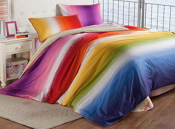 rainbow bedding for girls photo - 10