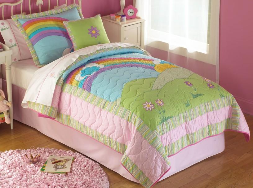rainbow bedding for girls photo - 2