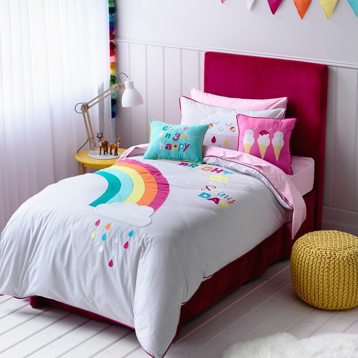 rainbow bedding for girls photo - 6