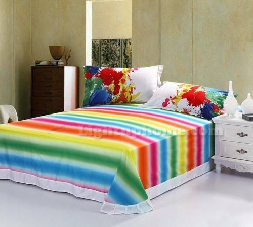 rainbow bedding for kids photo - 10