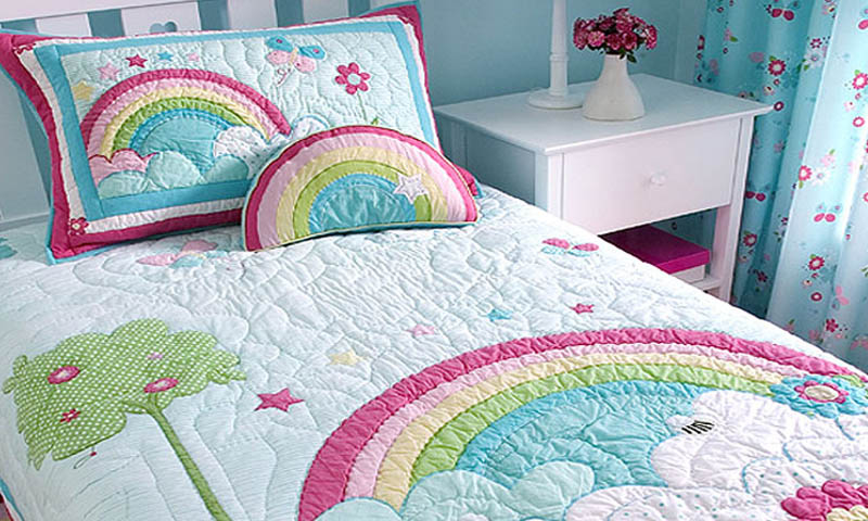 rainbow bedding for kids photo - 5