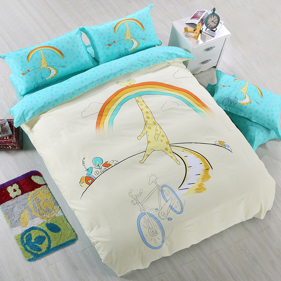 rainbow bedding for kids photo - 6
