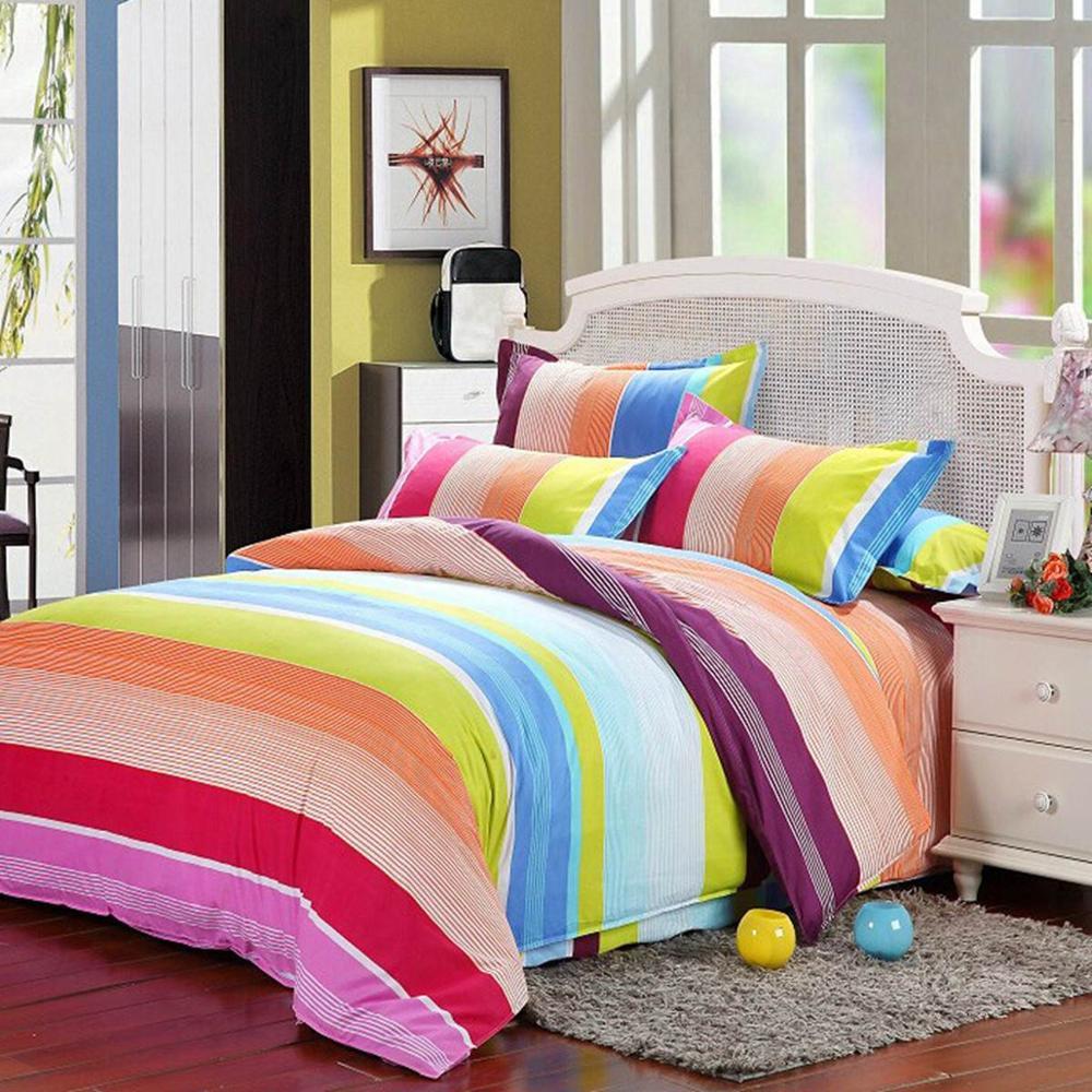 Black And Grey Bedroom Ideas Haint Blue Bedroom Modern Bedroom Sets Queen Master Bedroom Decor Traditional: Rainbow Bedding For Kids
