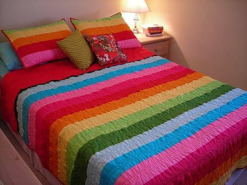 rainbow bedding full photo - 2