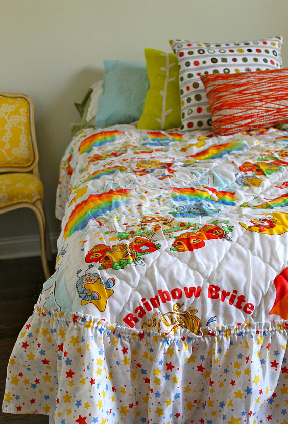 rainbow bright bedding photo - 2
