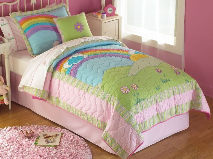 rainbow colored bedding photo - 10