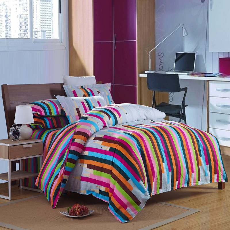 rainbow colored bedding photo - 2