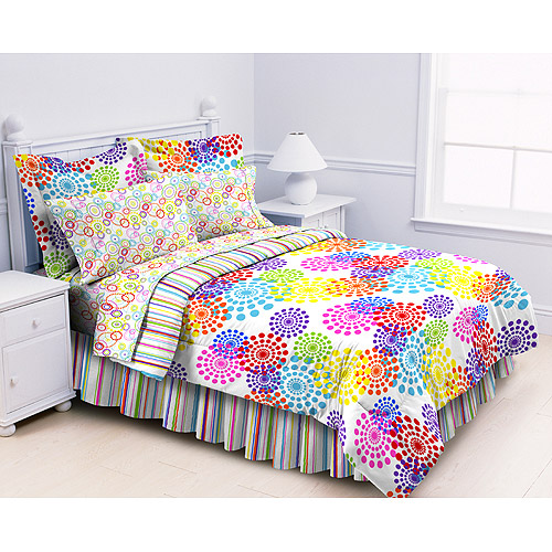rainbow colored bedding photo - 3