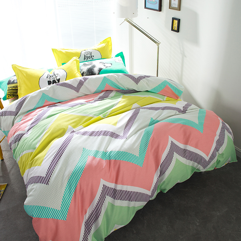 rainbow colored bedding photo - 4