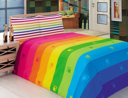 rainbow colored bedding photo - 5