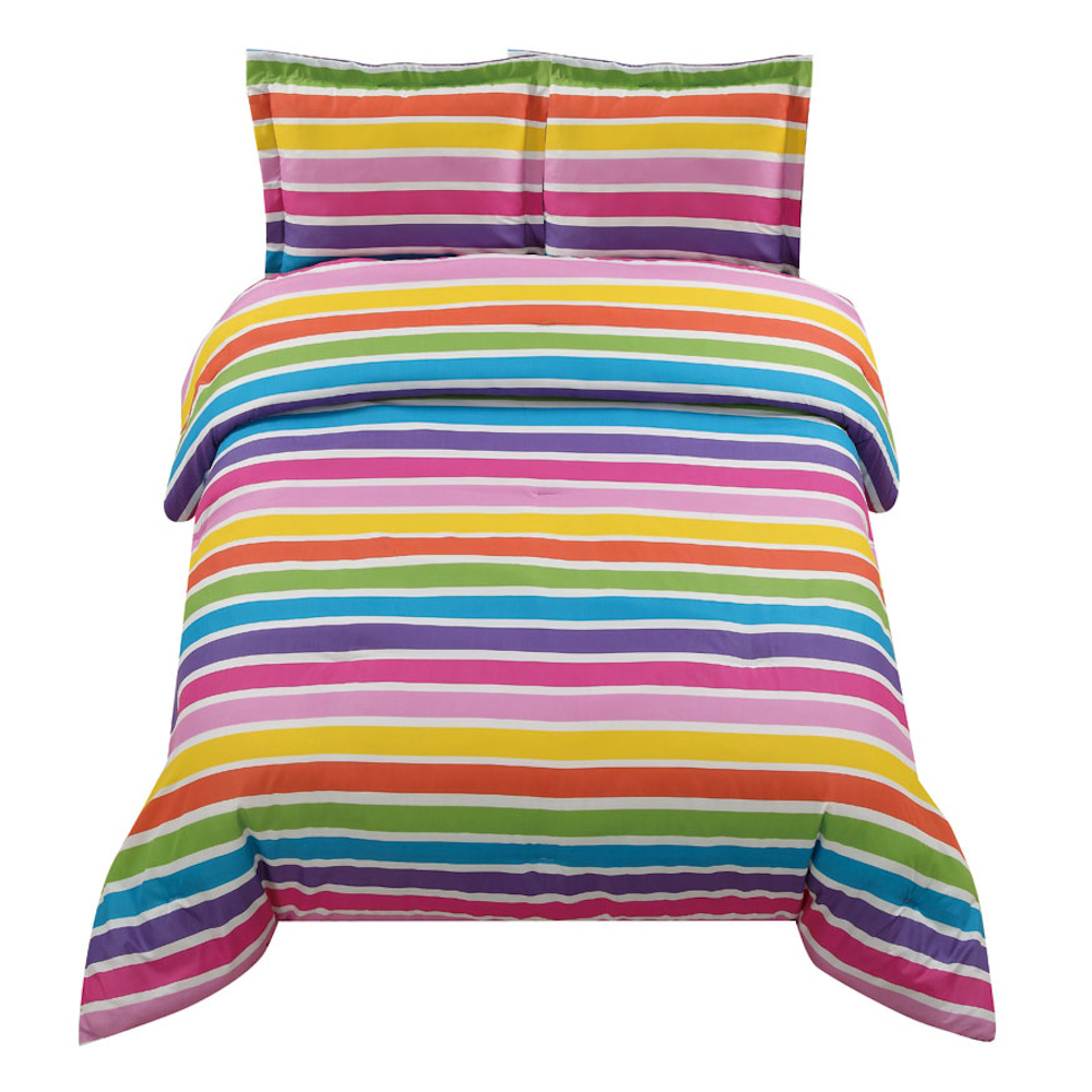 rainbow colored bedding photo - 6