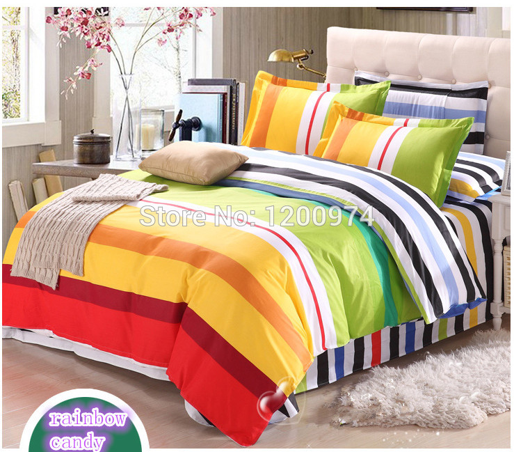 rainbow colored bedding photo - 7