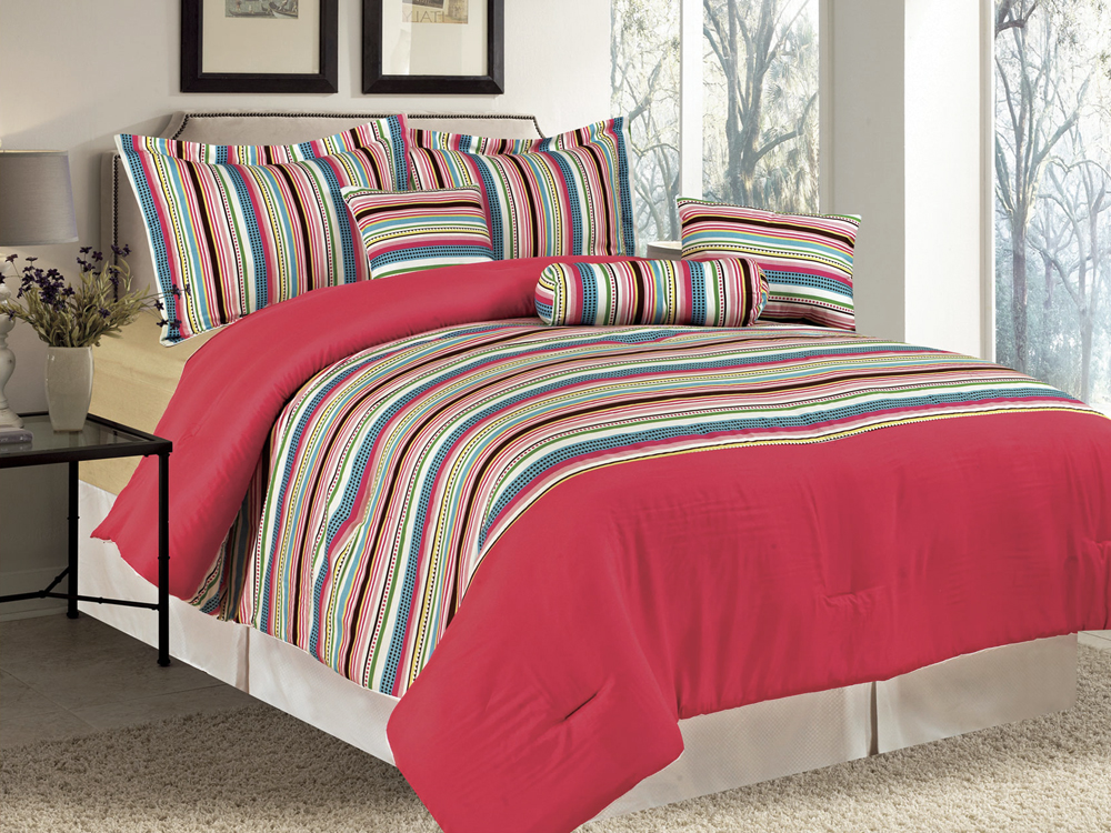 rainbow colored bedding photo - 9