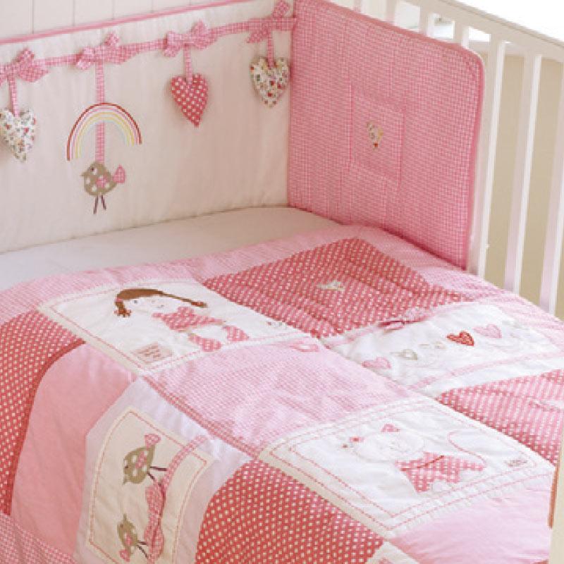 rainbow cot bedding photo - 2
