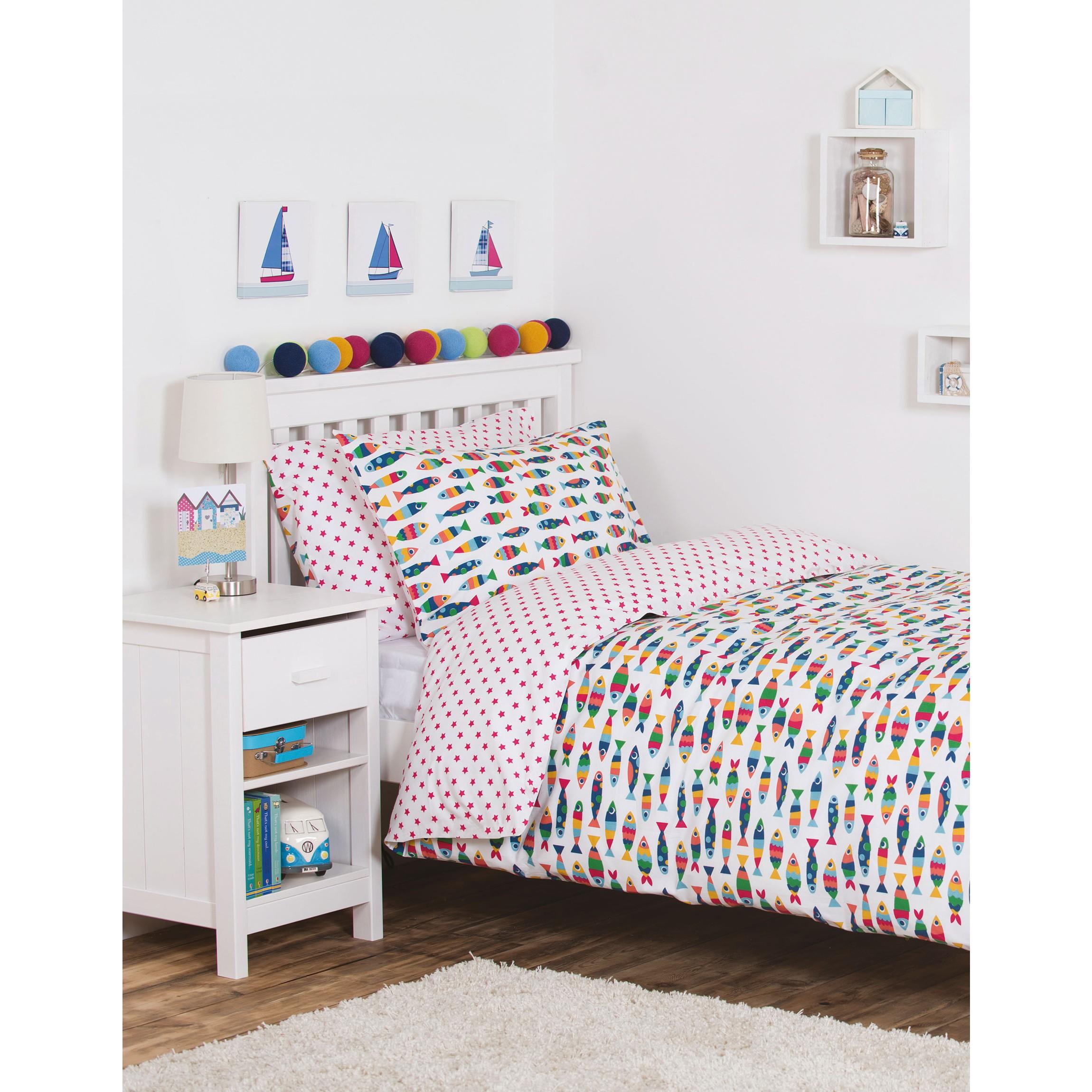rainbow cot bedding photo - 6