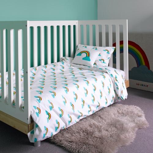 rainbow cot bedding photo - 7