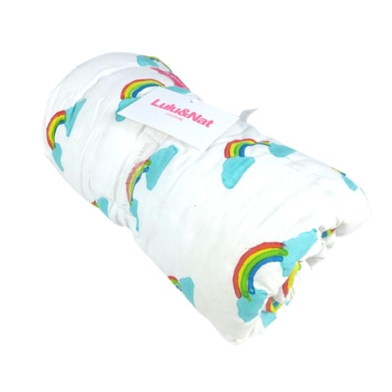 rainbow cot bedding photo - 8