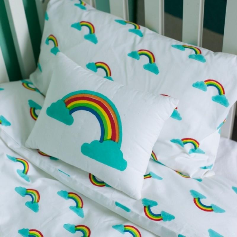 rainbow cot bedding photo - 9