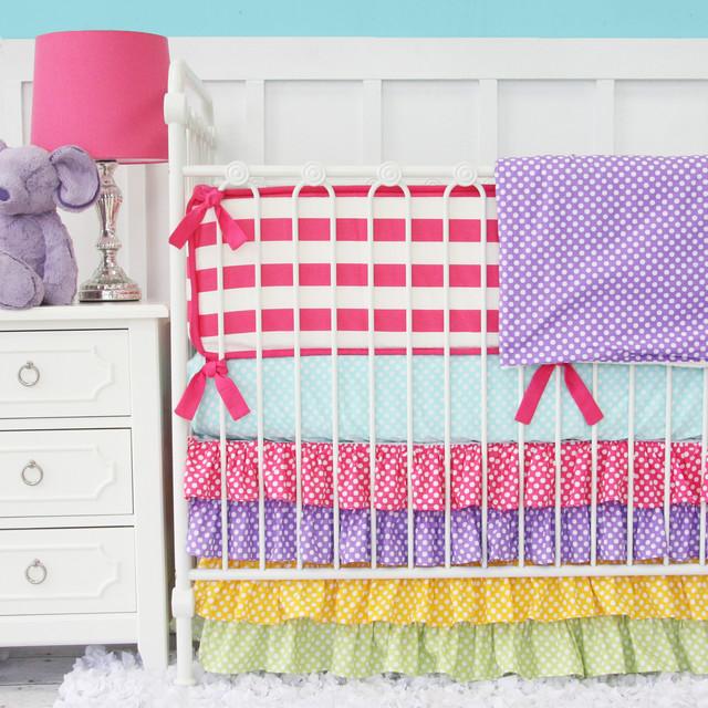 rainbow crib bedding photo - 10