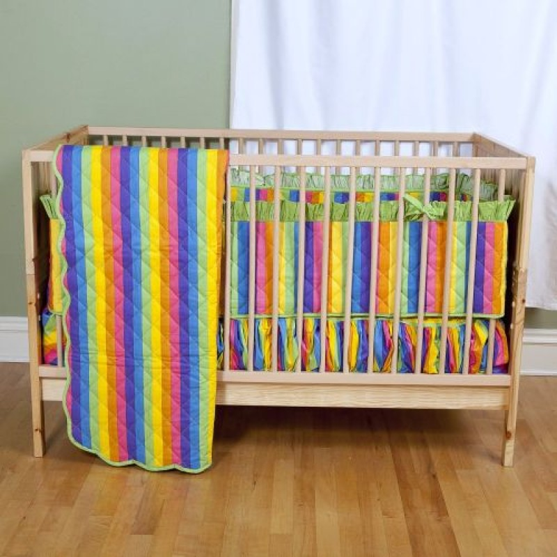 rainbow crib bedding photo - 4
