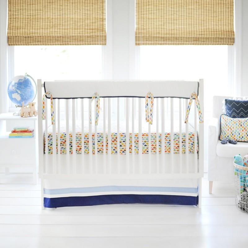 rainbow crib bedding photo - 5