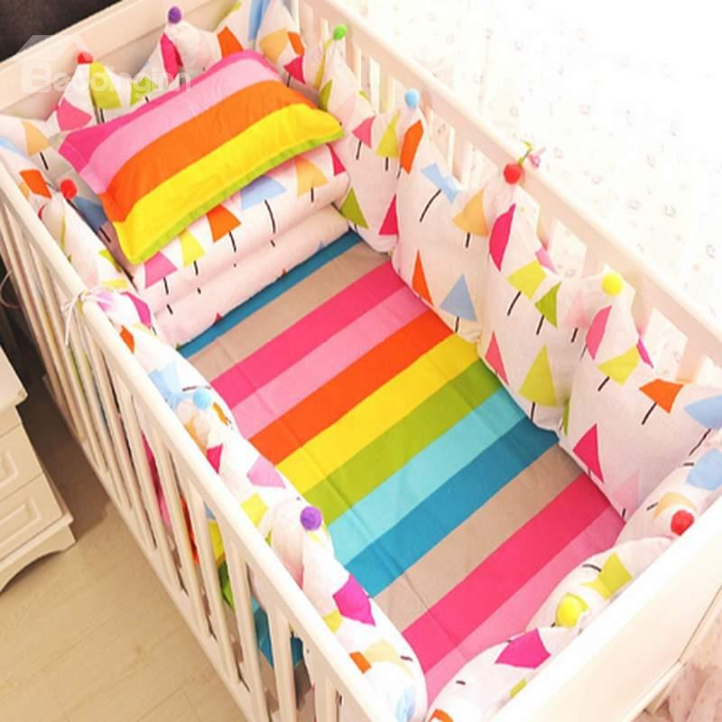 rainbow crib bedding photo - 6