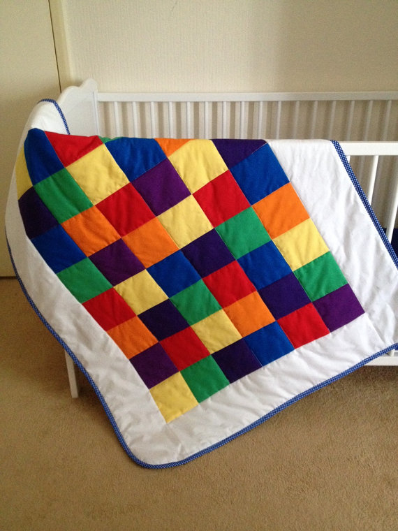 rainbow crib bedding photo - 9
