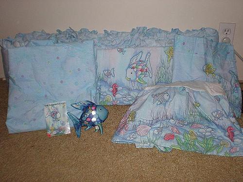 rainbow fish bedding for crib photo - 5