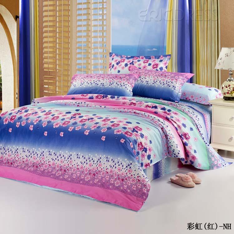 rainbow flower bedding photo - 2