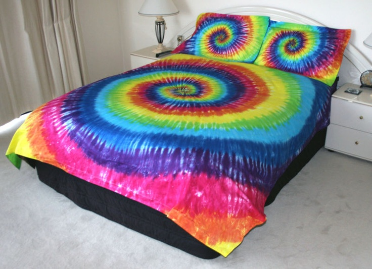 rainbow tie dye bedding photo - 10