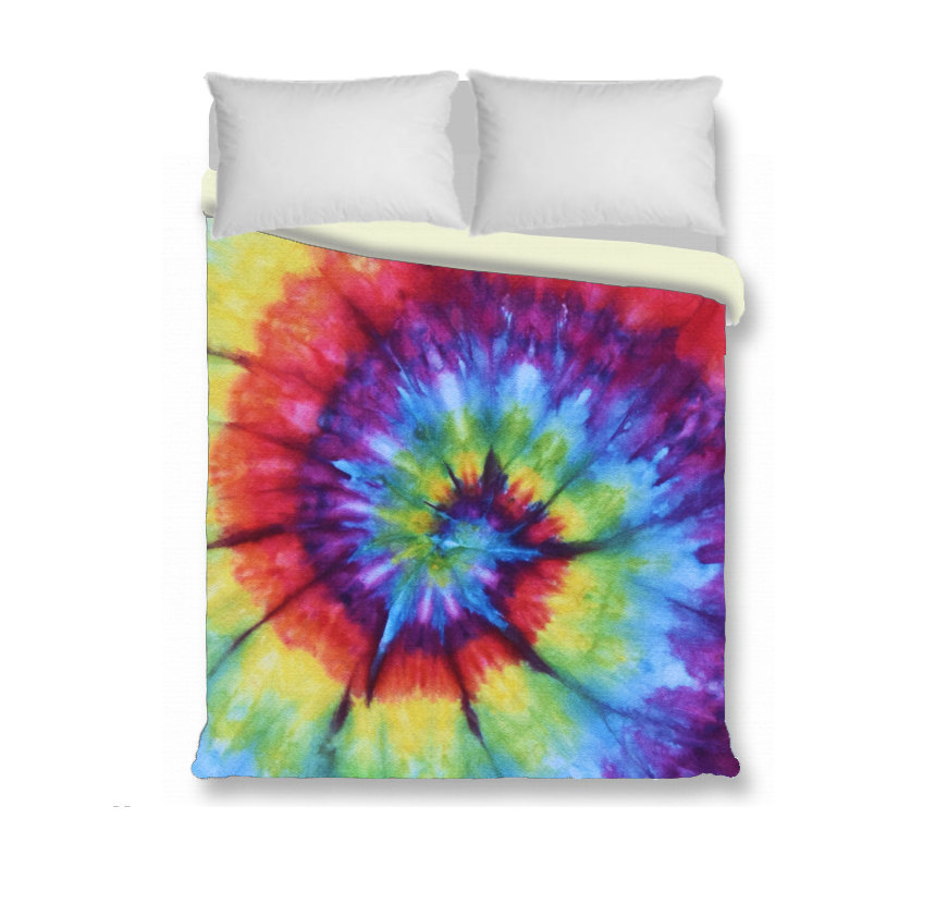 rainbow tie dye bedding photo - 3