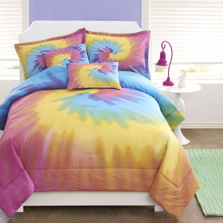 rainbow tie dye bedding photo - 4