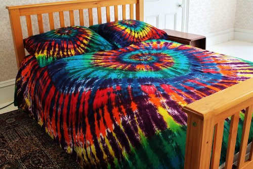 rainbow tie dye bedding photo - 7
