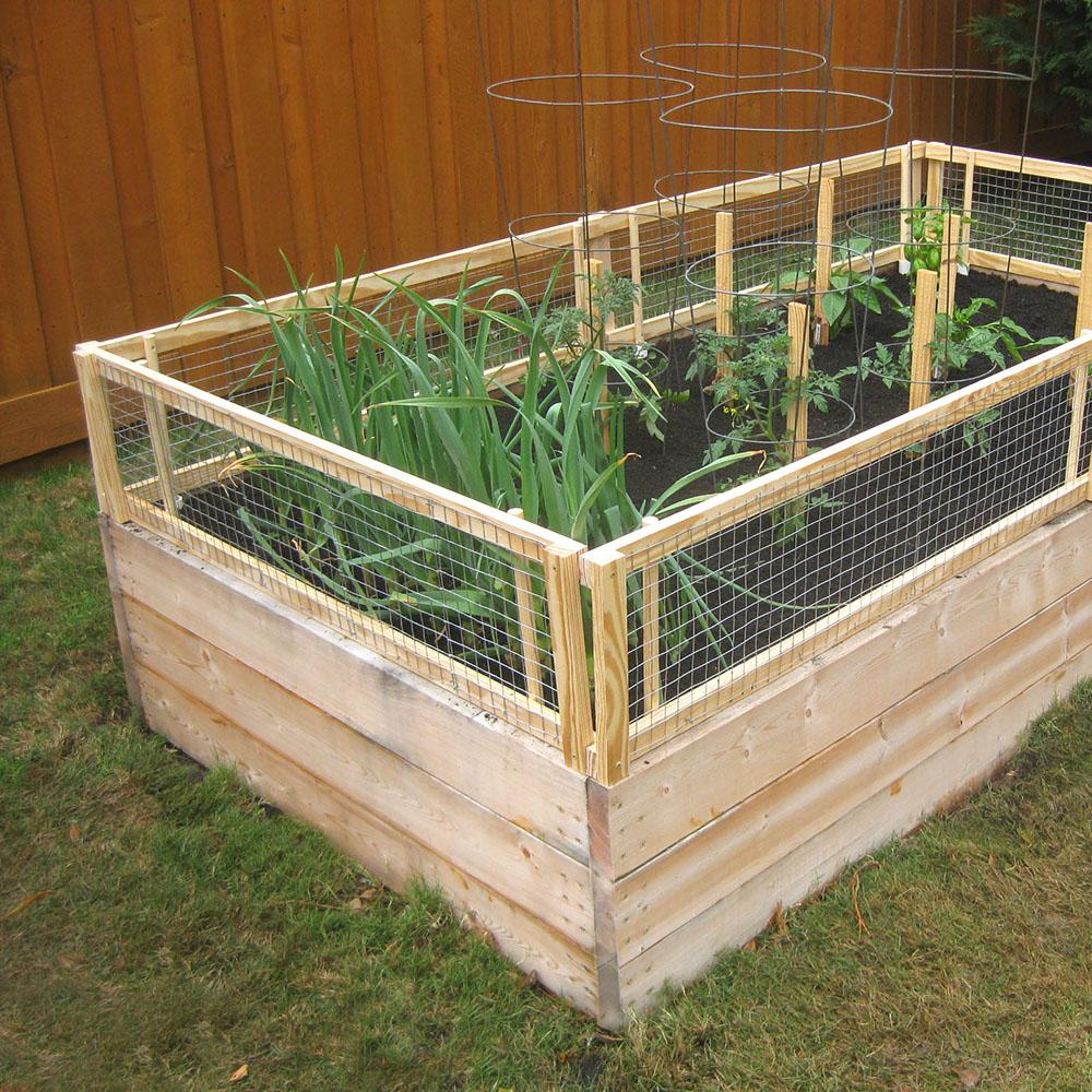 raised bed garden fencing ideas photo - 1