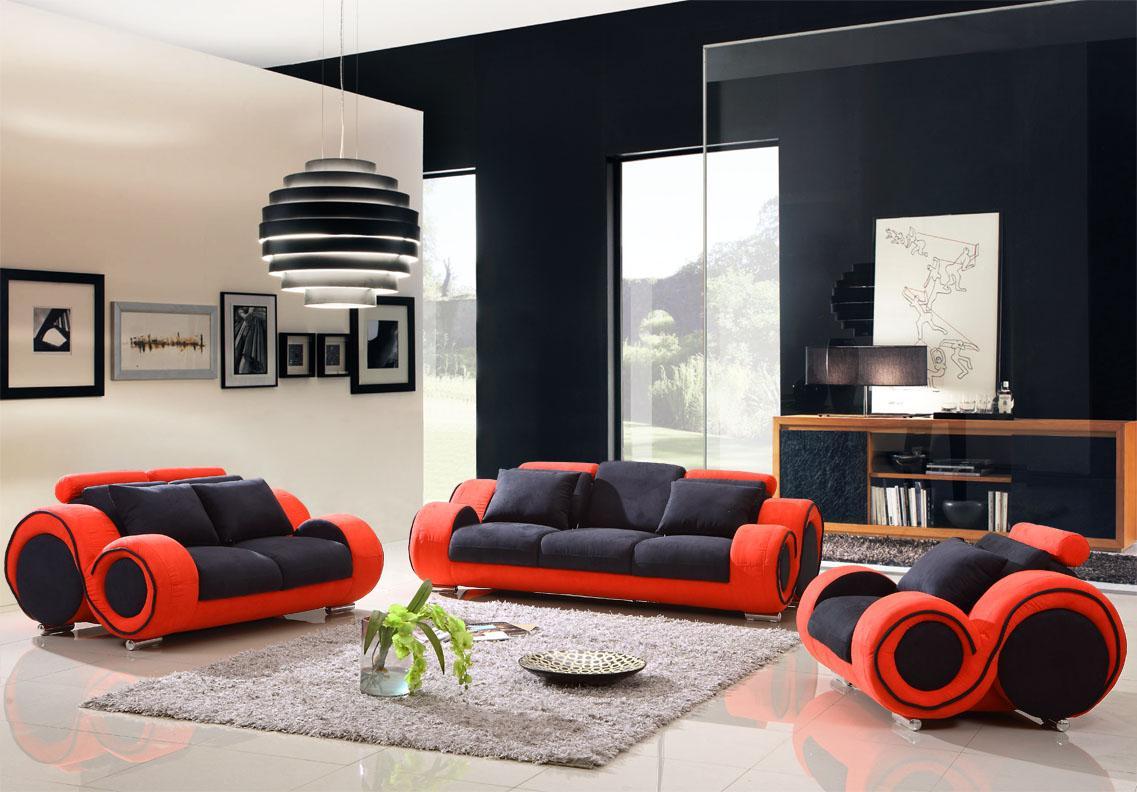 red bedroom black furniture photo - 5
