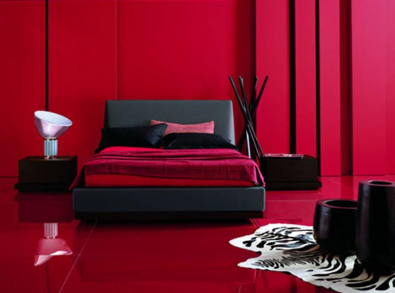 Red bedroom black furniture   Hawk Haven