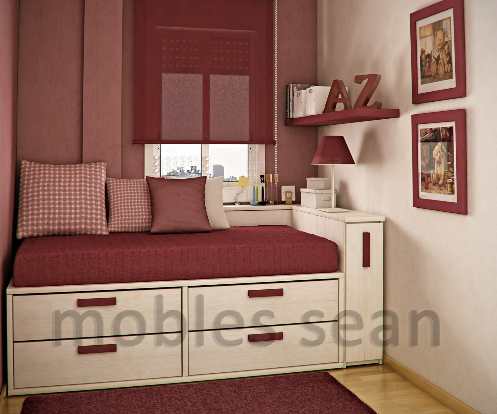 red bedroom furniture for kids photo - 10